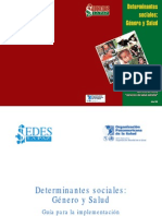 Determinantes Sociales Genero y Salud