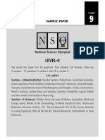 NSO Sample Paper