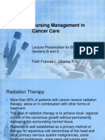 Nursing Management in Cancer Care