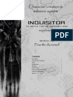 Inquisitor Character Creation and Advancement