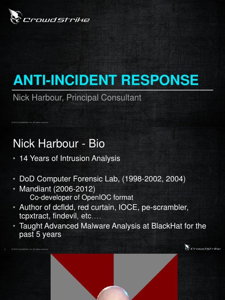 Anti Incident Response | Windows Registry | Computing Platforms