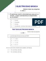 TEST DE ELECTRICIDAD BÁSICA