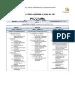 Programas y Encuadre 2012