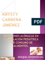 Reacciones Alérgicas en la Población Pediátrica por consumo de alimentos