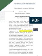 Relazione Rettore Uni Bg
