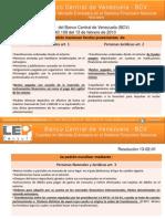 Resolución 130201 - Banco Central de Venezuela BCV - Cuentas en Moneda Extranjera en el Sistema Financiero Nacional.pdf