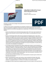 A Realistic Outlook For Iraq's Oil Production In 2030