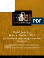 Use of computer programming in animal diet formulation