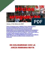 Noticias Uruguayas Viernes 15 de Febrero Del 2013