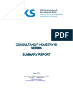 Consultancy Industry in Serbia in English