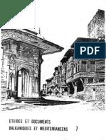 Etudes et documents Balkaniques - 7 , 1984