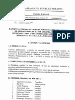 Raportul Comisiei de Anchetă pe cazul incidentului din Pădurea Domnească