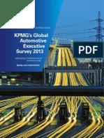 Global Automotive Executive Survey 2013