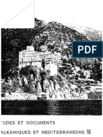 Etudes et documents Balkaniques et Mediterraneens - 10 , 1986