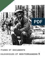 Etudes et documents Balkaniques et Mediterraneens - 11 , 1986