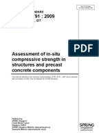 BS - Guide to assessment of concrete strength in existing structures