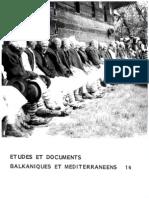 Etudes et documents Balkaniques et Mediterraneens - 14 , 1989