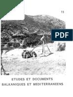 Etudes et documents Balkaniques et Mediterraneens - 15, 1990