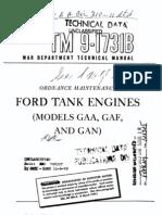 TM 9-1731B Ford Tank Engines (Models GAA, GAF, And GAN) 1945