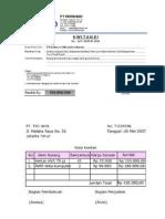 Contoh Nota  Contoh Proforma Invoice
