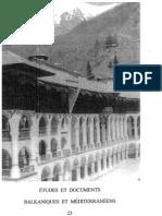 Etudes et documents Balkaniques et Mediterraneens - 23 , 2001