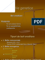 Bolile Genetice- Curs 10