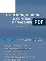 Tendering, Bid Evaluation, negotiation and contract award process of