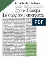 Aria peggiore d'Europa - lo smog resta emergenza