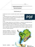 Ficha Formativa nº - Tectónica de placas (Informação)