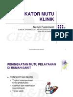 Indikator Mutu Klinik