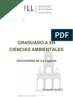 Graduado Ciencias Ambientales ULL