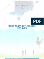 Boka Night_Program Proposal