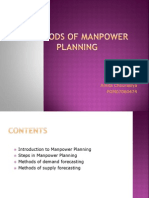 METHODS OF MANPOWER PLANNING FOR HOSPITALS