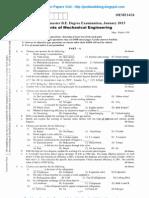 Elements of Mechanical Engineering Jan 2013 New