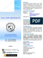 Call for Abstracts Brochure