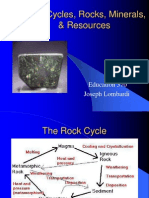 Rock Cycles Minerals
