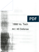 1998 Virginia Tech Defense - Bud Foster