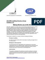 APG EffectiveUseofISO19011