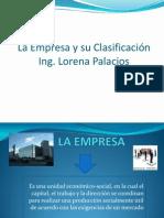 Capitulo 1 Clasificacion de Empresa