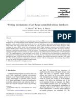 Wetting Mechanisms of Gel-based Controlled-release Fertilizers