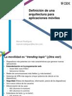 4 Definicion de Una Arquitectura Para Aplicaciones Moviles