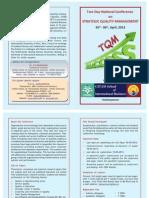 Strategic Quality Management Brochure