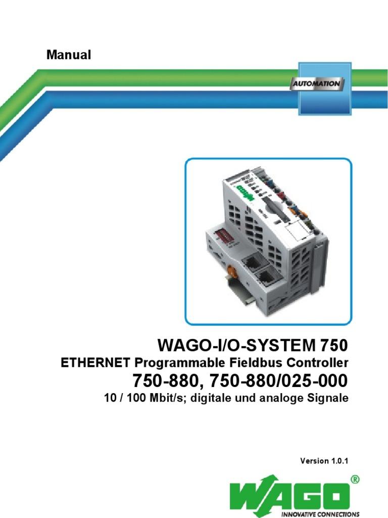 QUICKSTART_750-880 | Communications Protocols | Input/Output