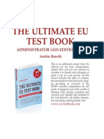 Sample Chapter - The Ultimate EU Test Book 2013 Administrator (AD) Edition - Free