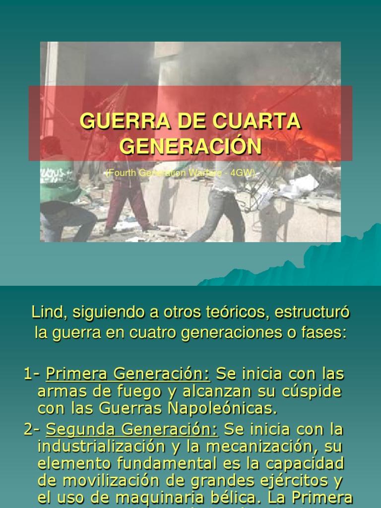 GUERRA DE CUARTA GENERACIÓN III | Guerra | Seguridad nacional