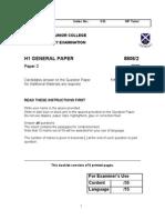 2009 SAJC Prelims GP P2_ques Paper