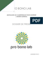 Pro Bono Lab - Dossier de Presse