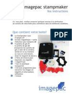 French instructions for imagepac stampmaker