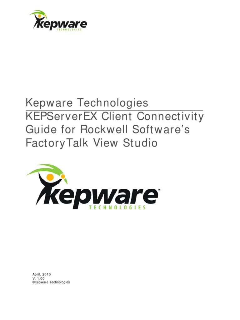 KTSM00002 FactoryTalk View Connectivity Guide KEPWARE   Server