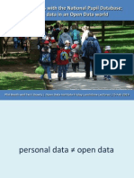 Getting to grips with the National Pupil Database; personal data in an open data world